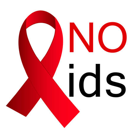 World no AIDS day. Awareness Medical sign Illustration