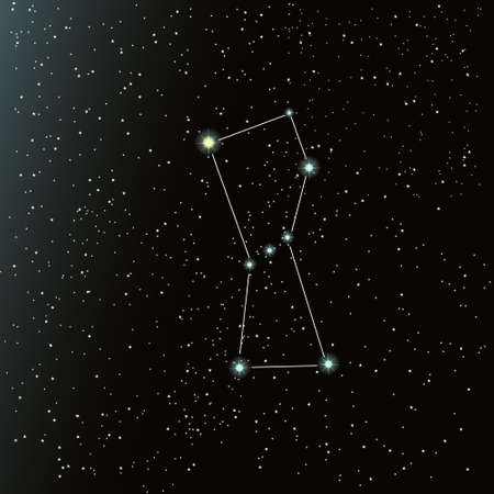 the constellation Orion in the night sky with lots of bright stars