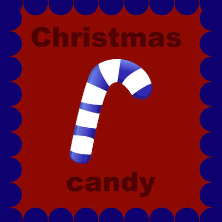 christmas candy on red background Illustration