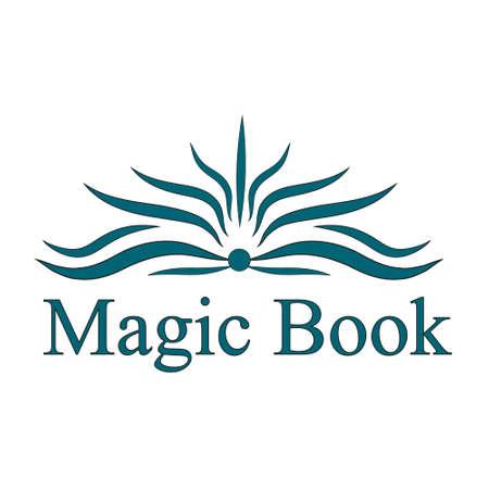 vector logo magisch boek Stock Illustratie