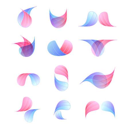 set of vector logos on an abstract theme
