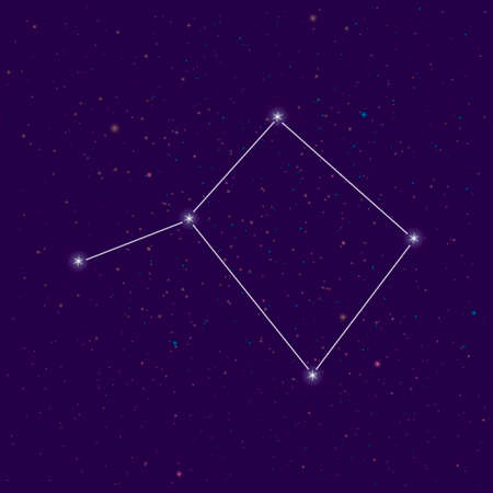 The stars converged in the constellation Libra in the night sky on planet Earth. Science research astrology astronomy space universe.