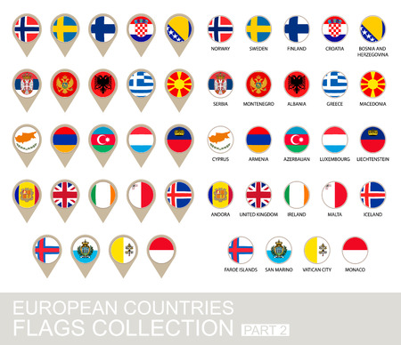 european countries: European Countries Flags Collection, Part 2 , 2  version