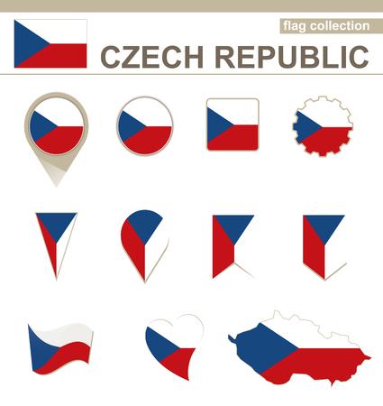 the czech republic: Czech Republic Flag Collection, 12 versions Illustration