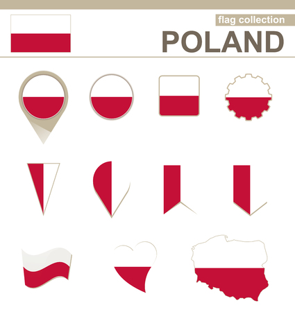 poland flag: Poland Flag Collection, 12 versions Illustration