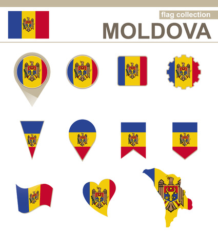 versions: Moldova Flag Collection, 12 versions