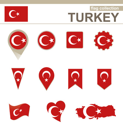 Turkey Flag Collection, 12 versions