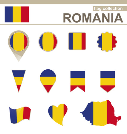 versions: Romania Flag Collection, 12 versions