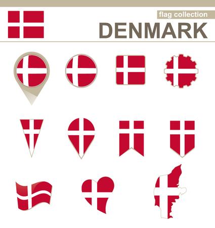 danish flag: Denmark Flag Collection, 12 versions