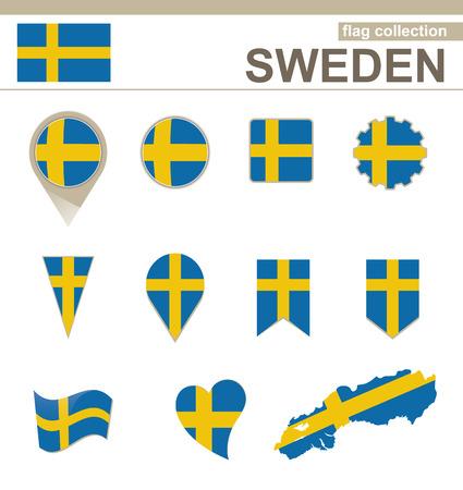bandera suecia: Suecia Bandera Collection, 12 versiones