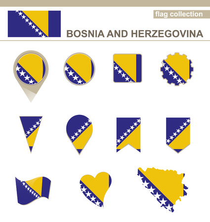 bosnia: Bosnia and Herzegovina Flag Collection, 12 versions Illustration