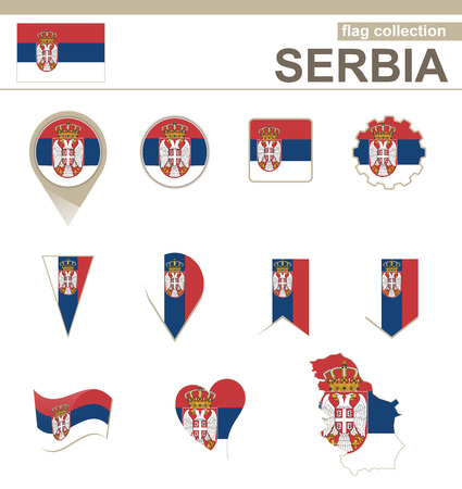 versions: Serbia Flag Collection, 12 versions