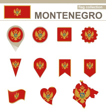 versions: Montenegro Flag Collection, 12 versions