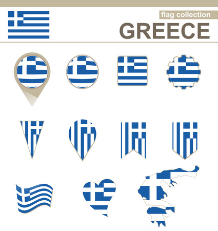 Greece Flag Collection, 12 versions Vector