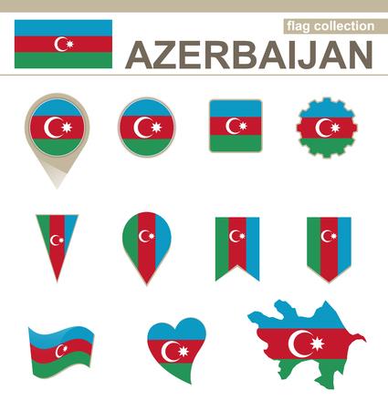 versions: Azerbaijan Flag Collection, 12 versions Illustration
