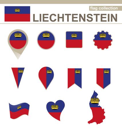 versions: Liechtenstein Flag Collection, 12 versions