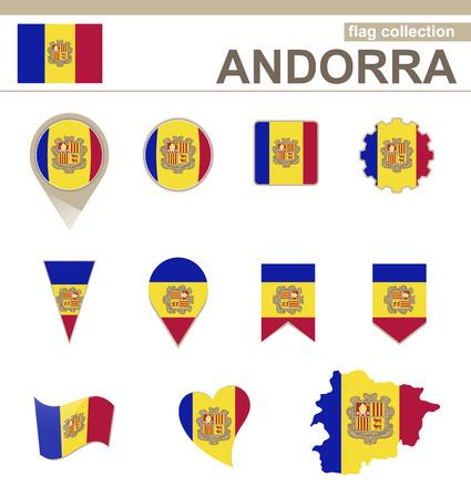 andorra: Andorra Flag Collection, 12 versions