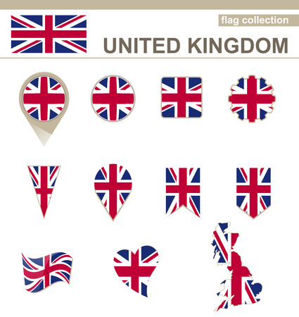 british flag: United Kingdom Flag Collection, 12 versions