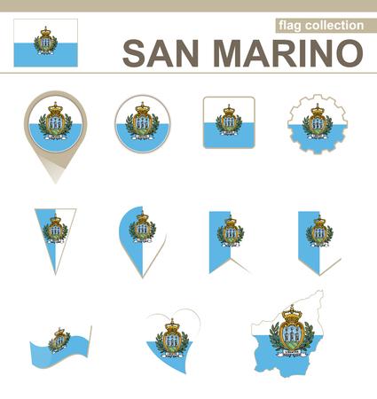 marino: San Marino Flag Collection, 12 versions