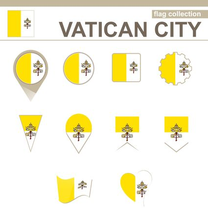 vatican city: Vatican City Flag Collection, 12 versions
