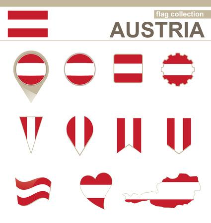 versions: Austria Flag Collection, 12 versions Illustration