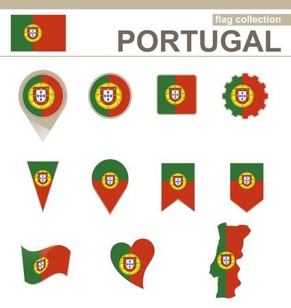 drapeau portugal: Portugal Flag Collection, 12 versions Illustration
