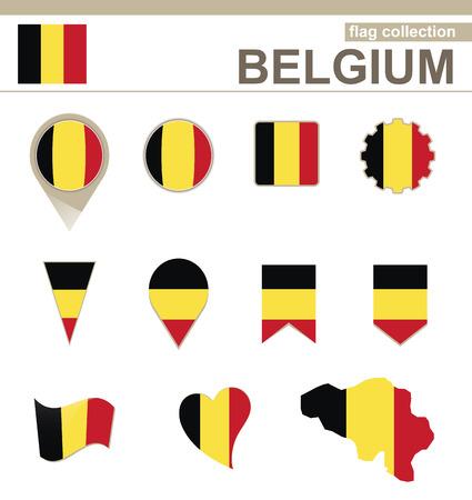 Belgium Flag Collection, 12 versions Vector