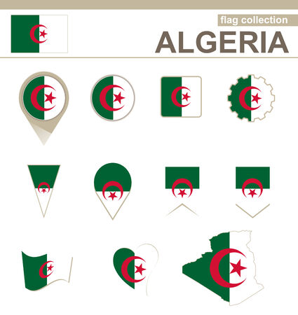 versions: Algeria Flag Collection, 12 versions
