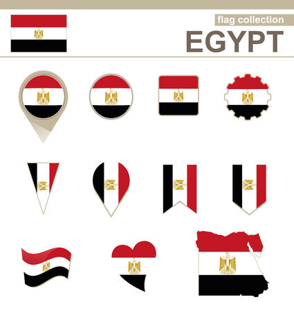 versions: Egypt Flag Collection, 12 versions