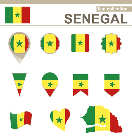 senegal: Senegal Flag Collection, 12 versions Illustration