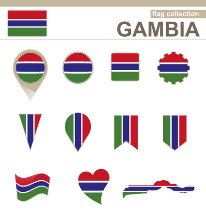 Gambia Flag Collection, 12 versions