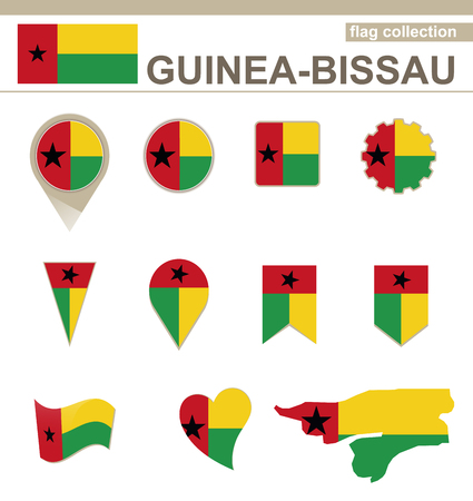 versions: Guinea-Bissau Flag Collection, 12 versions