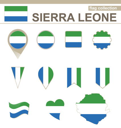 leone: Sierra Leone Flag Collection, 12 versions Illustration