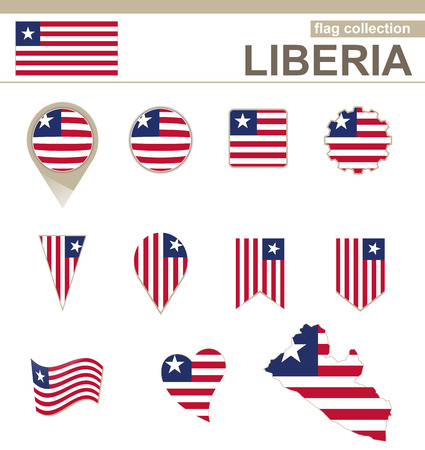 versions: Liberia Flag Collection, 12 versions