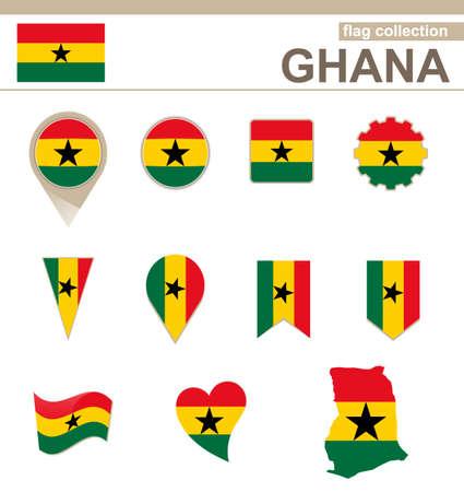ghana: Collection Drapeau Ghana, 12 versions