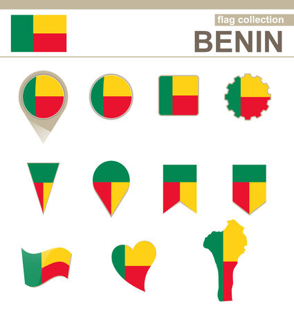 versions: Benin Flag Collection, 12 versions