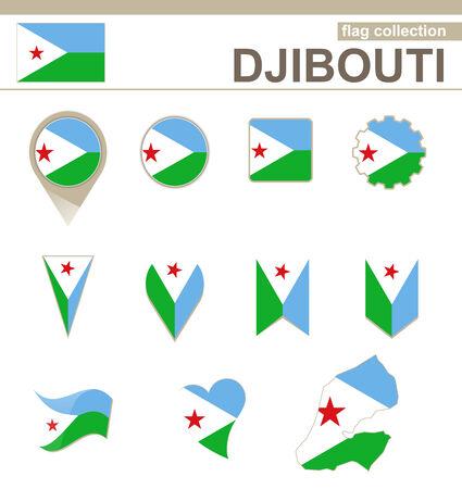 djibouti: Djibouti Flag Collection, 12 versions