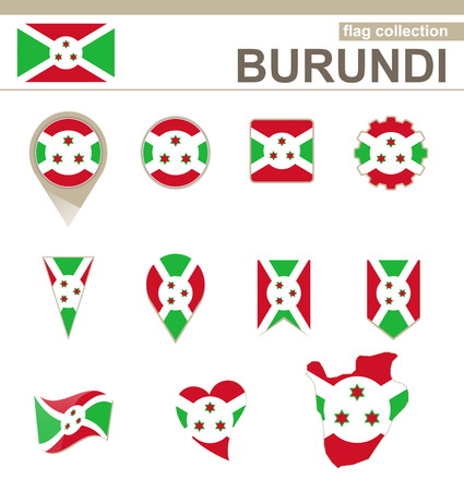 burundi: Burundi Flag Collection, 12 versions Illustration