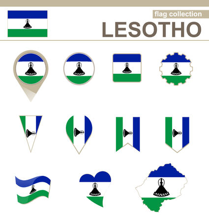 lesotho: Lesotho Flag Collection, 12 versions
