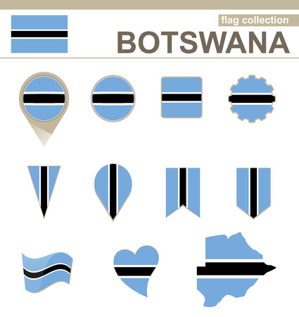 versions: Botswana Flag Collection, 12 versions