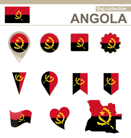 versions: Angola Flag Collection, 12 versions