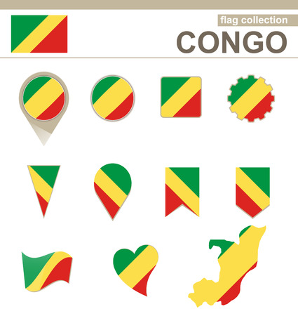 versions: Congo Flag Collection, 12 versions