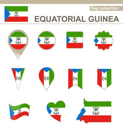 equatorial: Equatorial Guinea Flag Collection, 12 versions