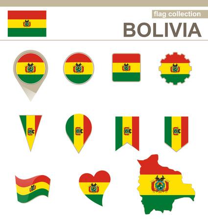 Bolivia Flag Collection, 12 versiones Vectores