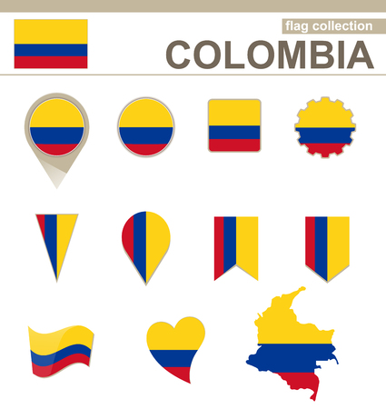 versions: Colombia Flag Collection, 12 versions Illustration
