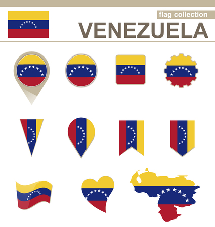 Venezuela Flag Collection, 12 versions Imagens - 36523463