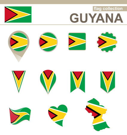 guyana: Guyana Flag Collection, 12 versions Illustration