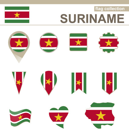 versions: Suriname Flag Collection, 12 versions