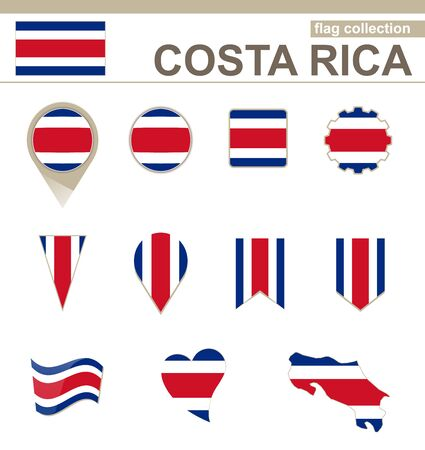 costa rica: Costa Rica Flag Collection, 12 versions