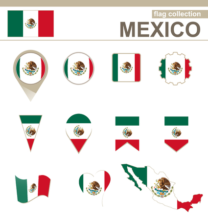 versions: Mexico Flag Collection, 12 versions